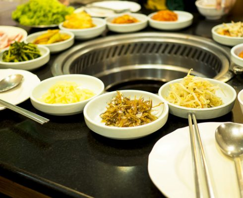 Korean food, traditional and healthy. Good for diet, weight loss.